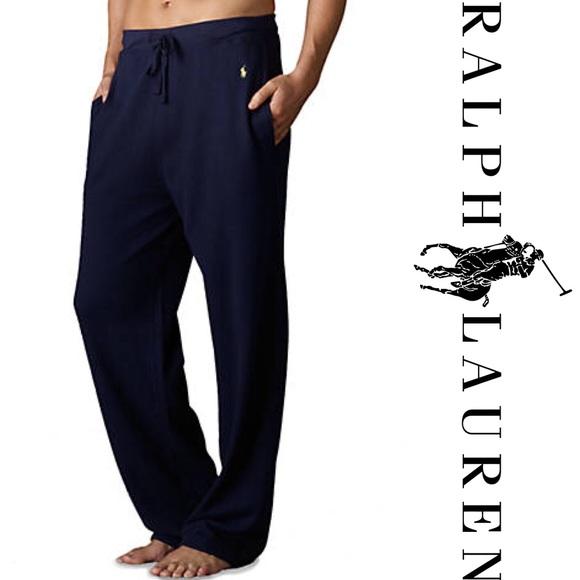 Lauren NewNwt Pants Waffle Knit Sleepwear Ralph N8XPkwOn0